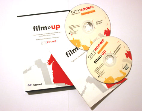 DVDs, Booklet und Cover der film>>up Dokumentation